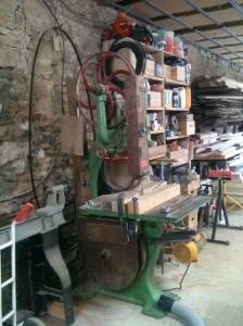 The saw, looks like a museum piece!