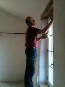 Oiling the lintels