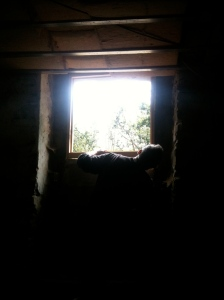 Opening up the workshop to get natural light in
