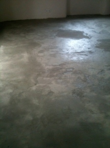 screed floor ready for planks