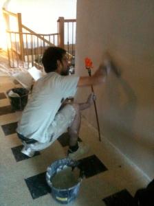 Vincent perfecting the walls