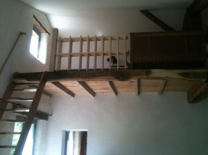 The mezzanine bedroom